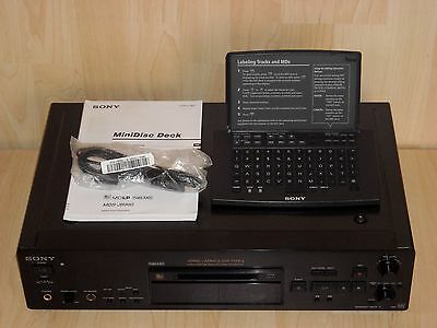 Sony MDS-JB980 QS High End MiniDisc Deck & Sony RM-D11P Remote Commander