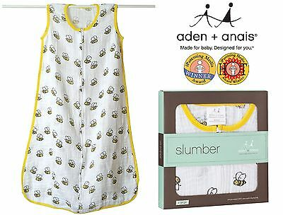 Summer Sleeping Bags (Bees) - Aden and Anais Top Quality Muslin