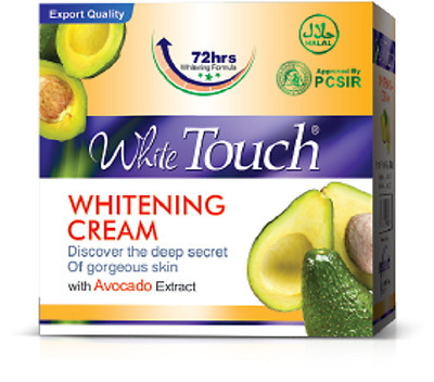 WHITE TOUCH WHITENING CREAM with Avocado Removes Acne Dark Spots Pimples Freckle