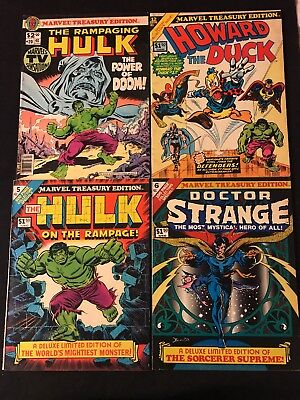Marvel Treasury Edition 5,6,20,12 Featuring The Hulk Doctor Strange And More