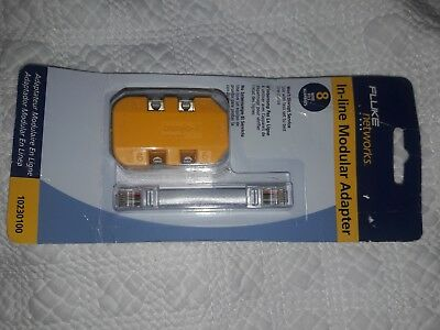 Fluke Networks 10210101 4-Wire In-Line Modular Adapter with K-Plug