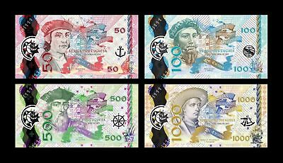 Portuguese Africa Brazil India Azores 50;100;500;1000 2017, Clear Window Polymer