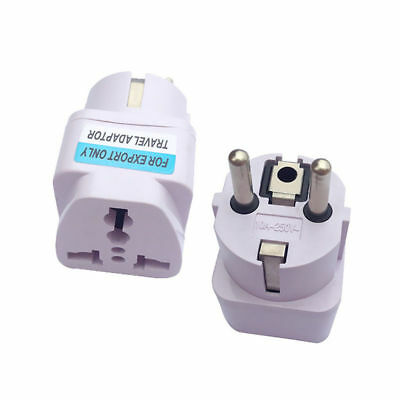 For US UK AU To EU Europe Travel Charger Power Adapter Converter Wall Plug Home