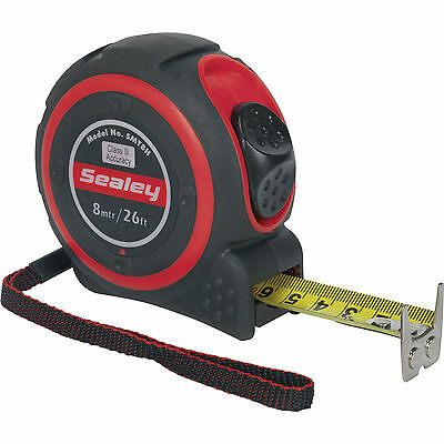 Sealey Heavy Duty Tape Measure Imperial & Metric 26ft / 8m 25mm