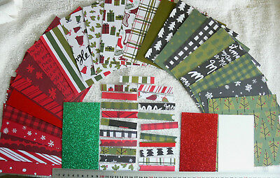 "VERY MERRY 22 Hvy S/S Dsgns 6x6Pk, 25 3""Strips, 2 Plain C/Stk, 3-6x3"" Glitter AC"
