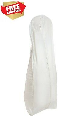 Brand New X Large White Bridal Wedding Gown Dress Garment Bag by BAGS FOR LESS
