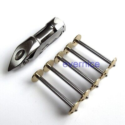 5 Pcs Bobbins & 1 Vs Shuttle Bobbin Case For Singer 27,28,127,128 Treadle Sewing
