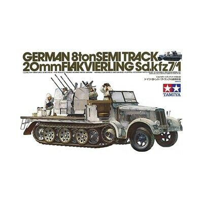 Tamiya 1/35 German 8ton Semitrack 20mm Flakvierling Sd.Kfz.7/1 Kit TA-35050 (New