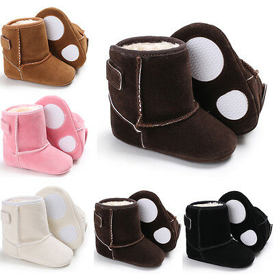 Baby Kids Girl Boy Soft Sole Booties Snow Boot Infant Toddler Crib Shoes US
