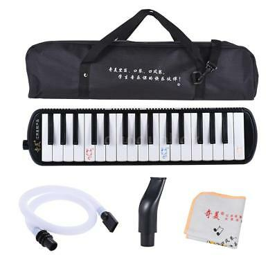 QIMEI QM32A-7 32 Piano Style Keys Melodica for Beginner with Bag Black I7A7
