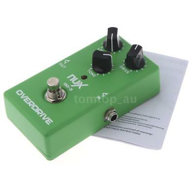 NUX OD-3 Overdrive Guitar Electric Effect Pedal Ture Bypass Green X9O6