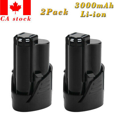 2x 3.0AH M12 Lithium-ion battery for Milwaukee 48-11-2401 12-Volt Cordless Tools