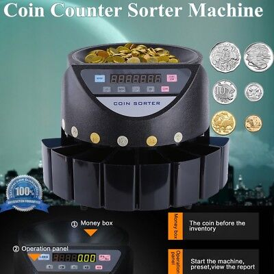 Digital Automatic Electronic Australian Coin Counter Sorter Machine AU STOCK