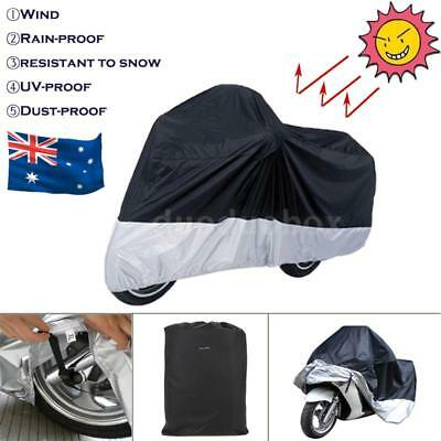 XL Motorcycle Cover Waterproof Outdoor Bike Scooter Rain UV Dust Rain Cover D2E9