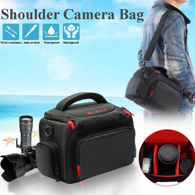 DSLR SLR Camera Waterproof Shoulder Bag Carrying Case For Canon Nikon Outdoor