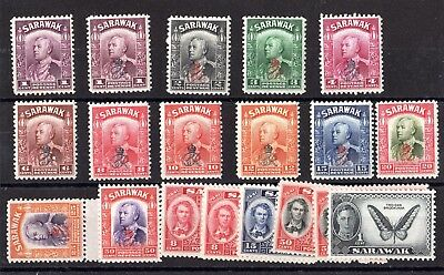 Sarawak KGVI 1942/51 Collection of 19 Values MH X7623