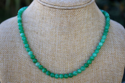 100% china Natural green jade nephrite hand carved chain Jewelry jade necklaces