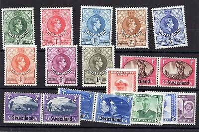 Swaziland KGVI 1938/47 Sets To 1/- MH X7632