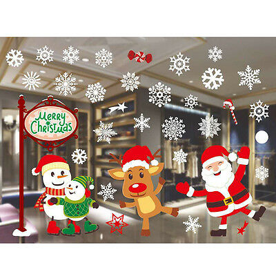 UK Christmas Decoration Glass Paste Color Window Glass Background Wall Stickers