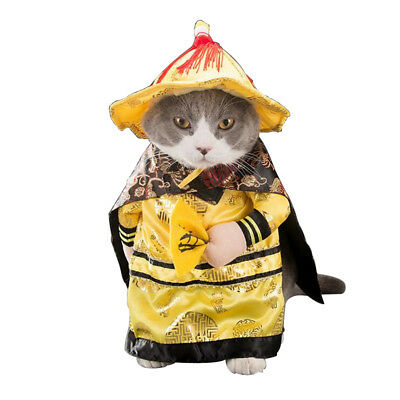 Pet Dog Cat Halloween Costume Emperor Cosplay Dress Up Pet Party Clothes 4 Size