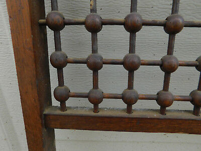 Antique oak Victorian Stick Ball Dowel Fretwork Architectural Frieze Trim Origin