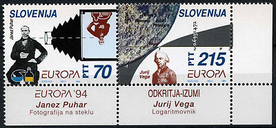 Slovenia 1994 SG#231-2 Europa Discoveries & Inventions MNH Set #D56366