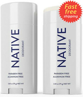 NEW Mens or Womens NATIVE Deodorant Unscented Aluminum Free (1) 2.65 Oz FREESHIP