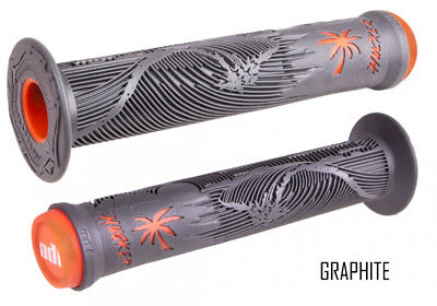 ODI Hucker FL Grips grau/orange BMX Dirt Freeride Stunt-Scooter Griffe