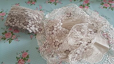 """Over 5 metres x1.75"""" vintage needlerun lace trim dolls craft projects"""