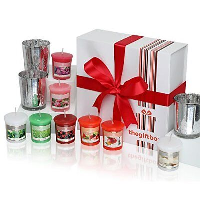 Luxurious Scented Candles Gift Set by The Gift Box. Comprises 8 Different