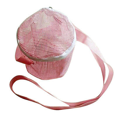 Newly Small Pet Carrier Summer Breathable Mesh Bag Hamster Outdoor Round Pouch