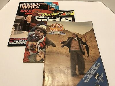 3 Total Doctor Who Magazines Souvenier Issue Winter 30th Anniversary