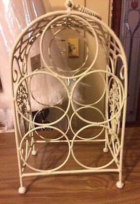 Hand Crafted Metal Wine Rack With Handle,new Never Used