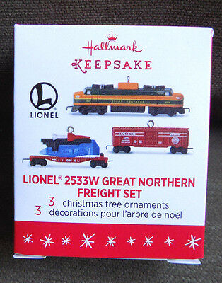 Hallmark Lionel 2533W Great Northern Freight Train Set Miniature Ornament 2016
