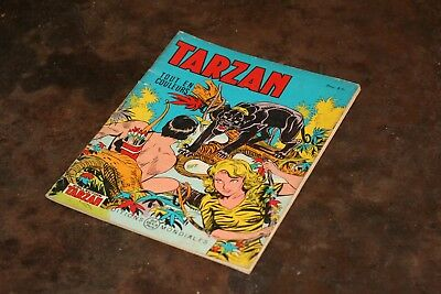 Vintage 1966 Tarzan N°19 Edition Mondiales Del Duca Paris Bd Couleurs 20 Pages