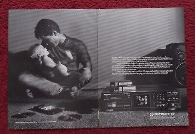 1989 Print Ad Pioneer PD-M700 6 Disc CD Player Stereo ~ Quality Time