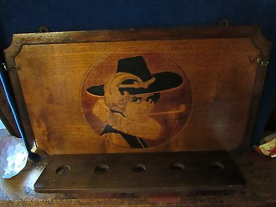 Antique 1909 FLEMISH ART PIPE RACK HOLDER with squashbuckler IN RUFF