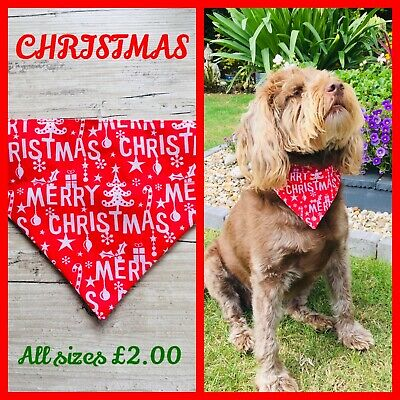 Halloween Polycotton DOG BANDANA slide on collar Neckerchief Scarf