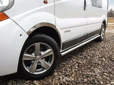 Renault Trafic L2 01-14   Protections Laterales Dia 60, Marche-Pieds, Inox Poli