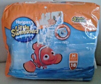 Huggies Little Swimmers Size Medium 24-34 lbs~16 Count