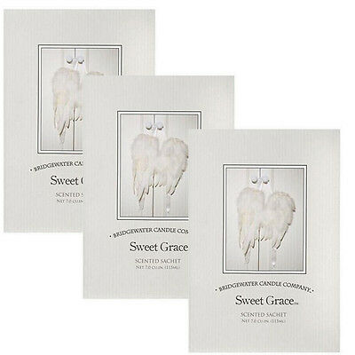 3 Pack Bridgewater Large Scented Fragrance Sachet 115ml - Sweet Grace