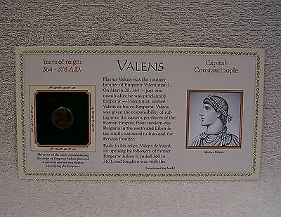 Coinage of Ancient Roman Emperor - Valens  364 - 378  A.D. Genuine Bronze Coin
