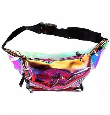 Fanny Pack - Pink  - Rave, Festival, Metallic, Holographic, Transparent, galaxy