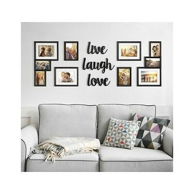 Picture Frame Set For Walls Photo Collage Live Laugh Love Family