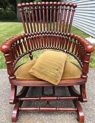 Antique Hunzinger Platform Rocker rocking chair