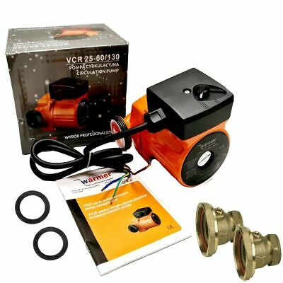 Central Heating Circulator Pump 60-130 For Hot Water Heating System +Valves