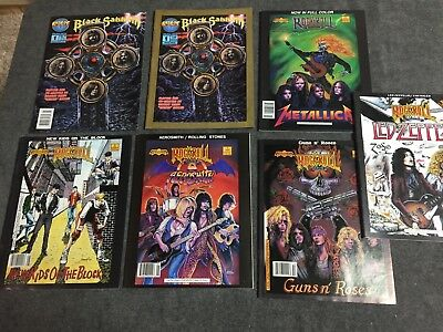 Lot of 63 Rock n Roll music comic books from the 1990's. vintage