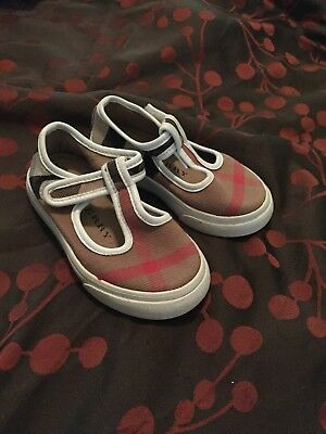burberry toddler girl shoes size 23(US 7)