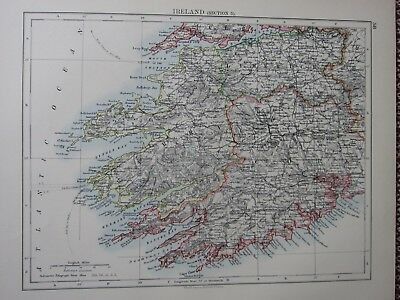 1897 Victorian Map ~ Ireland South West Kerry Cork Limerick