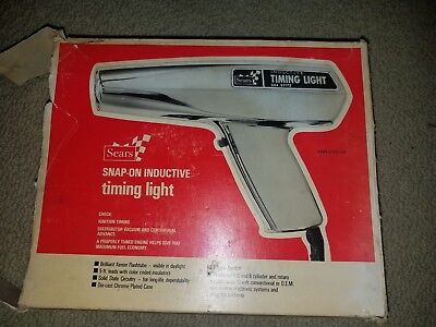 Vintage Sears Snap-On Inductive Timing Light 244.21172